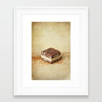 chocolate Framed Art Prints featuring chocolate by lucyliu