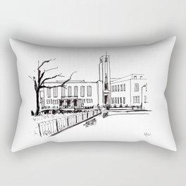 hornsey town hall, crouch end Rectangular Pillow