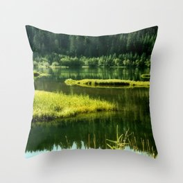 Fishing The Still Waters Throw Pillow