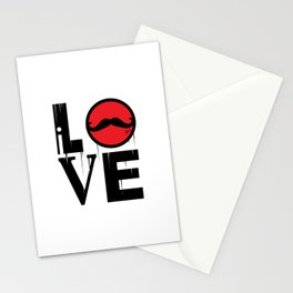 i LOVE mustaches Stationery Cards