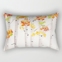 Autumn Birch Song Rectangular Pillow