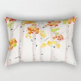 Autumn Birch Song Rectangular Pillow