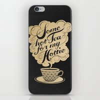 kitchen iPhone & iPod Skins featuring Some Hot Tea For My Hottie by Laura Graves