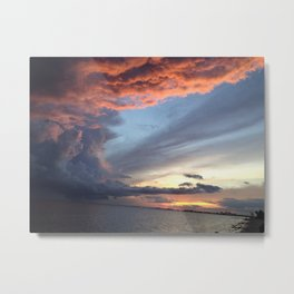 Skies are Angry Metal Print