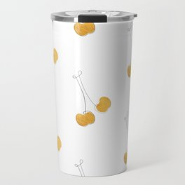 Les Cerises - Gold Cherry Line Art Travel Mug