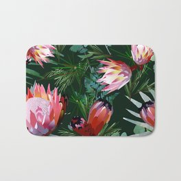 king protea flower Bath Mat
