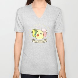 Crazy Bird Lady Unisex V-Neck