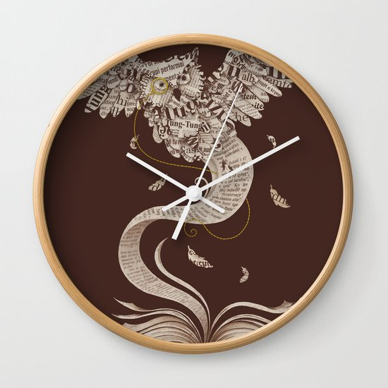Flow of Wisdom Wall Clock