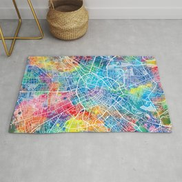 manchester map watercolor Rug