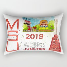 2018 MSU Game Day - The Junction Rectangular Pillow