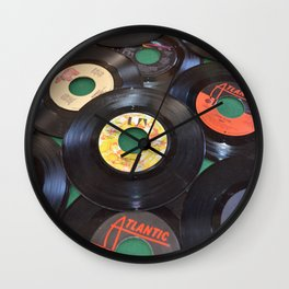 45 Records Wall Clock