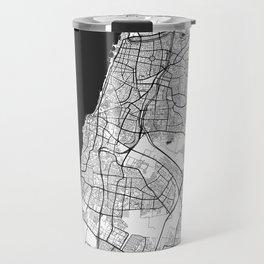 Tel Aviv Map Gray Travel Mug