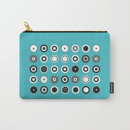 The Graphic Art Series #4: Circles on turqouise Carry-All Pouch