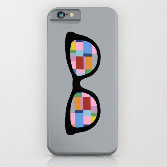 Square Eyes on Grey iPhone & iPod Case