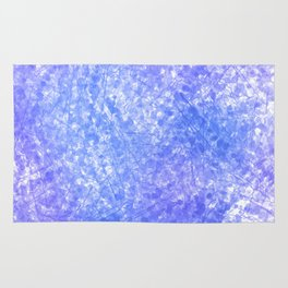 Bright Blue Purple Abstract Painting Rug