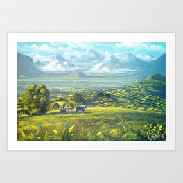 The Great Valley Art Print