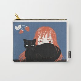 Hiding Behind a Black Cat Carry-All Pouch