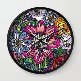 """""""Skull Garden III"""" by Schmiedlin 2013 Wall Clock"""