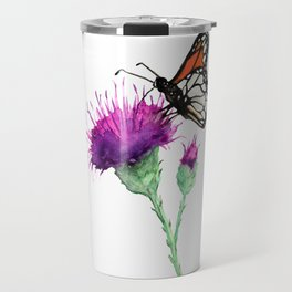 Monarch and Milk Thistle Travel Mug