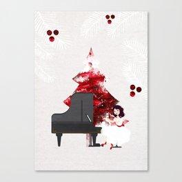 Music for Christmas time Canvas Print