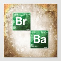 chemistry Canvas Prints featuring BrBa chemistry by Nxolab