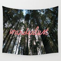 wander Wall Tapestries featuring WANDER by sophie isobel