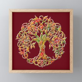 Tree of Life Maroon Framed Mini Art Print