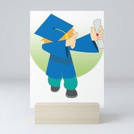 School Highschool Gradeschool Class Schooling Graduate Dabbing Gift Mini Art Print