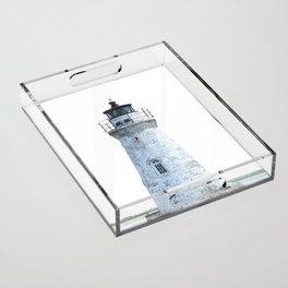 Lighthouse Illustration Acrylic Tray