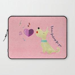 Valentine's Westie Dog in Love Laptop Sleeve