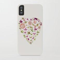 GARDEN HEART - PURPLE iPhone X Slim Case