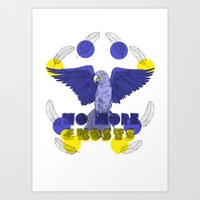 No More Ghosts - Glaucous Macaw Art Print
