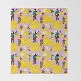 Lemon Babes Throw Blanket