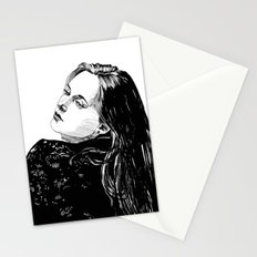 Lace Portrait T. Stationery Cards