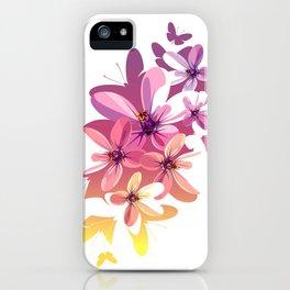 Flower Butterflies iPhone Case