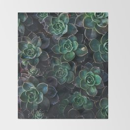 The Succulent Green Throw Blanket