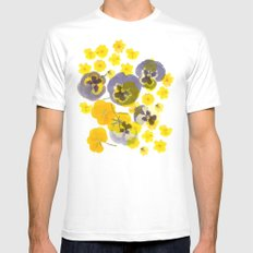 Flowering White Mens Fitted Tee MEDIUM