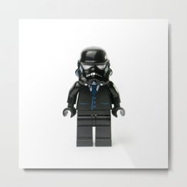 Darth Middle Manager Minifig Metal Print