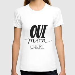Oui Mon Cheri Print T-shirt