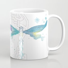 Celtic Knot Dragonfly Coffee Mug