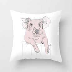 Piggywig Throw Pillow