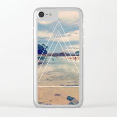 Beach Triangles II Clear iPhone Case