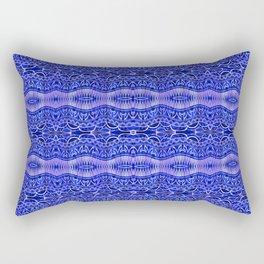 Ancient Thread Pattern Blue Rectangular Pillow