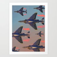 planes Art Prints featuring planes planes planes by Sarah Brust