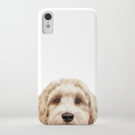 Labradoodle Beige Original painting by miart iPhone Case