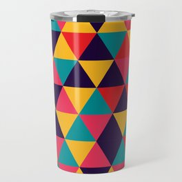 Colorful Triangles (Bright Colors) Travel Mug