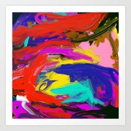 Rainbow Abstract II Art Print