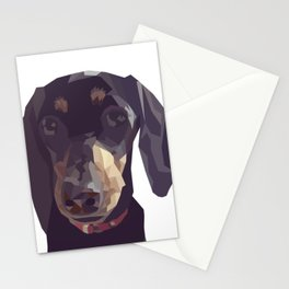 Geometric Sausage Dog Digitally Created Stationery Cards