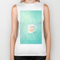 tea Biker Tanks featuring Tea by Freeminds