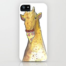 girafe eating a pizza iPhone Case